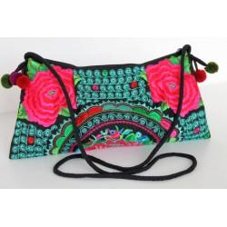 Kleine Handtasche Schultertasche Hmong Boho Stil Stickerei - TASCHE204