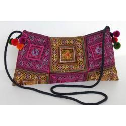 Kleine Handtasche Schultertasche Hmong Boho Stil Stickerei - TASCHE206