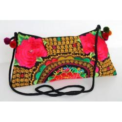 Kleine Handtasche Schultertasche Hmong Boho Stil Stickerei - TASCHE207