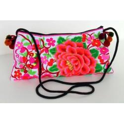 Kleine Handtasche Schultertasche Hmong Boho Stil Stickerei - TASCHE208