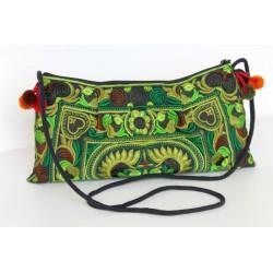 Kleine Handtasche Schultertasche Hmong Boho Stil Stickerei - TASCHE211