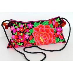 Kleine Handtasche Schultertasche Hmong Boho Stil Stickerei - TASCHE209