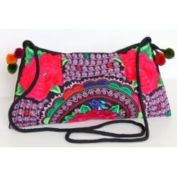 Kleine Handtasche Schultertasche Hmong Boho Stil Stickerei - TASCHE212