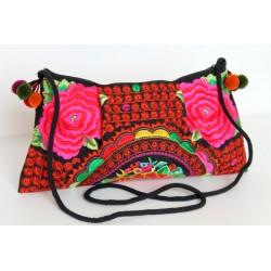 Kleine Handtasche Schultertasche Hmong Boho Stil Stickerei - TASCHE213