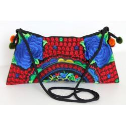Kleine Handtasche Schultertasche Hmong Boho Stil Stickerei - TASCHE214