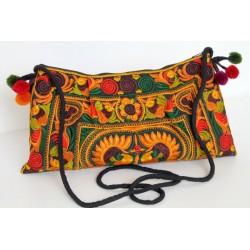 Kleine Handtasche Schultertasche Hmong Boho Stil Stickerei - TASCHE215