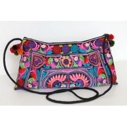 Kleine Handtasche Schultertasche Hmong Boho Stil Stickerei - TASCHE219