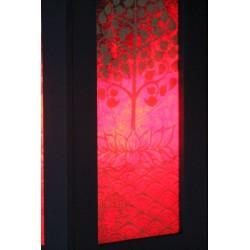 Lampe Thailand Lotusbaum in Rot