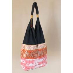 Schultertasche Tasche im Boho-Stil aus Thailand mit Elefanten