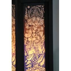 Lampe Thailand Ganesha Blau / Weiß