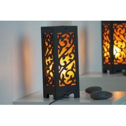 Lampe Thailand Ornament Orange/Beige