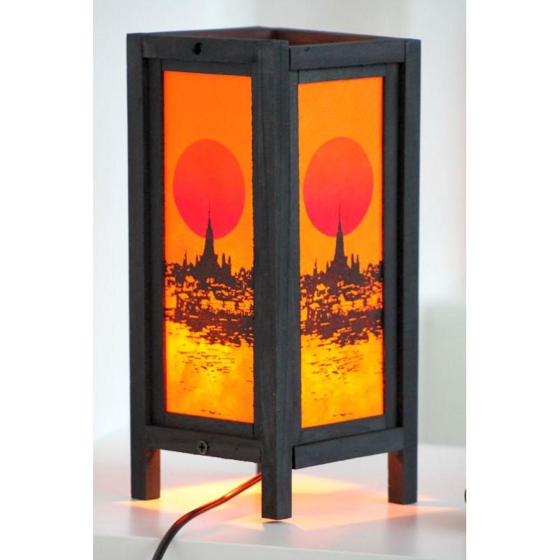Lampe Thailand Buddha Rot