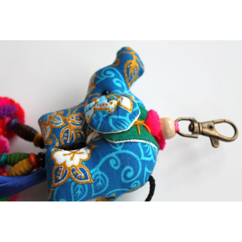 Schlüsselanhänger Elefant Anhänger Hellblau