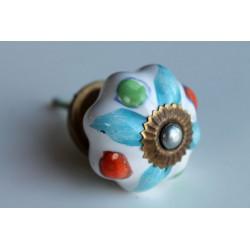 B-Ware: Möbelknopf Keramik handbemalt - KNOPF-105