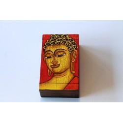 Holzdose Buddha Rot