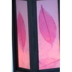 Lampe Thailand Blatt Rosa