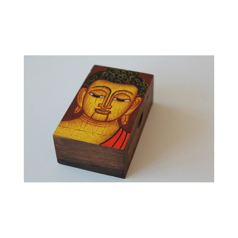 Holzdose Buddha Braun