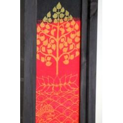 Lampe Thailand Lotusbaum in Gold