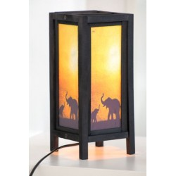 Lampe Thailand Elefant Abendstimmung