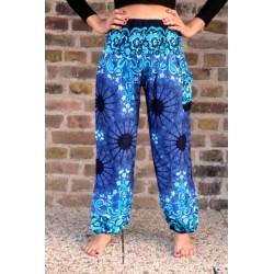 Haremshose Yogahose Hippiehose Blau Größe S / M - HOSE002