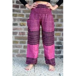 Haremshose Yogahose Hippiehose Pink gestreift Größe S / M - HOSE009