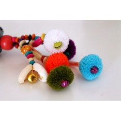 Keychain bag charms ball of wool 22 cm
