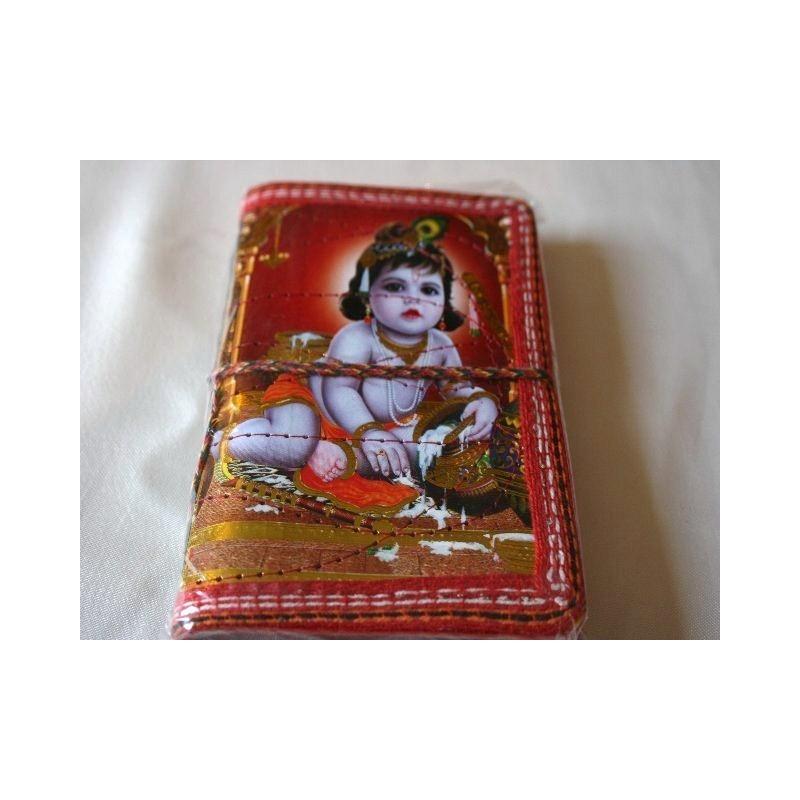 Typisches indisches Notizbuch mit Gottheit (klein) - NOTIZ-OK003
