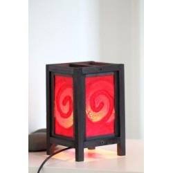 Lampe Thailand Rot Spirale Höhe 20cm