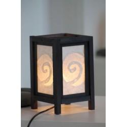 Lampe Thailand Spirale Weiß Höhe 20cm